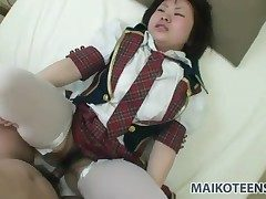 Japanese schoolgirl brimming with a hot albatross