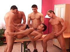 Gay gangbang and candidly 69 beside hot porn