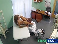 FakeHospital Spying superior to before hot young babe having special treatment from the falsify pov creampie