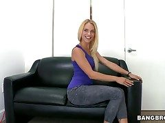 Cameron Canada with tiny breasts coupled with shaved snatch