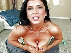 Romi Rain is a ebony haired gorgeous dame with perfect