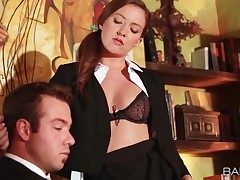 Secretary Maddy Oreilly tempts her chief
